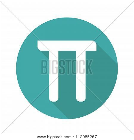 Mathematic Pi Icon Flat.