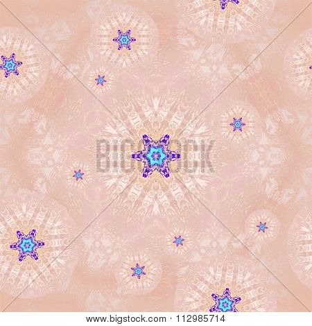 Seamless floral pattern pink blue purple