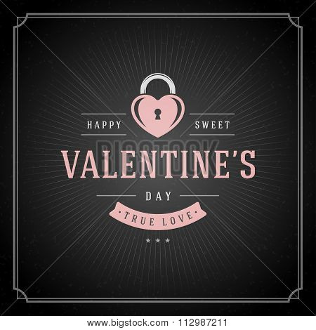 Happy Valentine's Day Greeting Card or PosterVector illustration