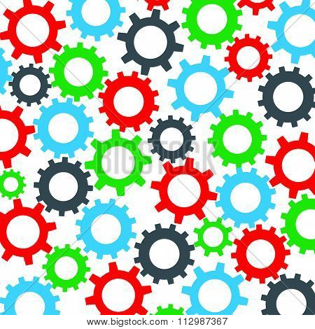 Cog wheel seamless color pattern