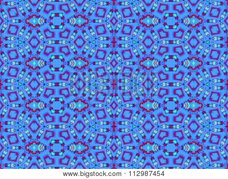 Seamless ornaments blue red