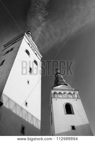 Zilina, Slovak Republic,church Of The Holy Trinity Two Towers