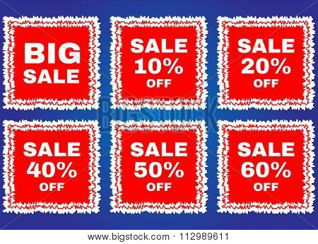 Big sale tags stamp