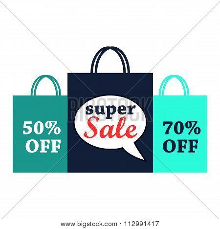 Super sale flat illustration