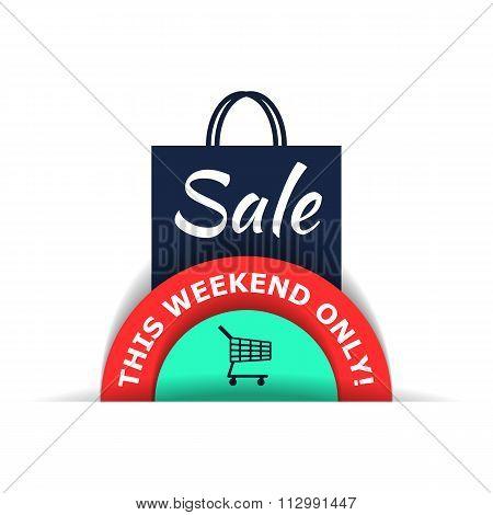 Sale flat illustration