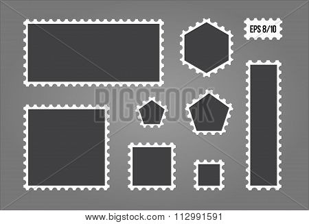 Postage stamps set - Isolated Vector Illustration