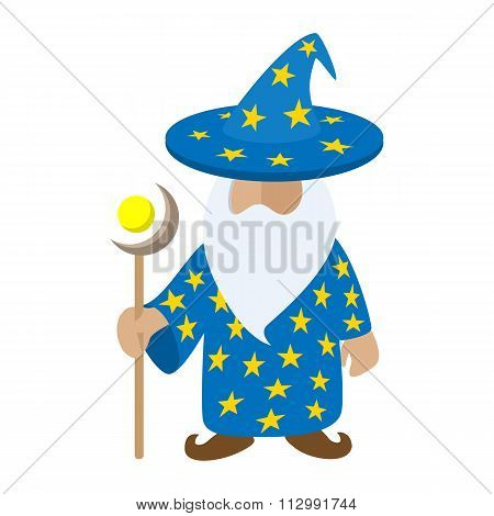 Old wizard cartoon character