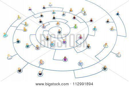 Cartoon Crowd, Link Spiral
