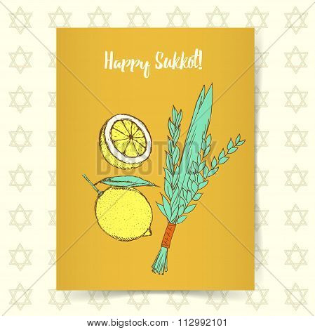 Sketch Sukkot Poster
