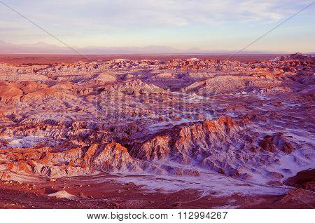Death Valley - Valle De Muerte In Atacama Desert.