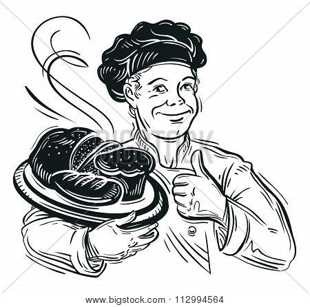 bread. vector illustration