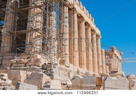 Gorizontal View Of The Greek Acropolis