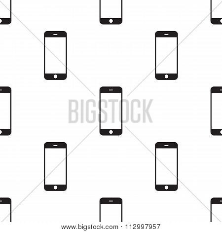 Modern Black Touchscreen Cellphone. Tablet Smartphone Isolated On White Background. Vector Template.