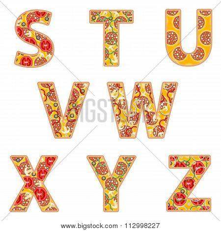 Pizza Alphabet S To Z