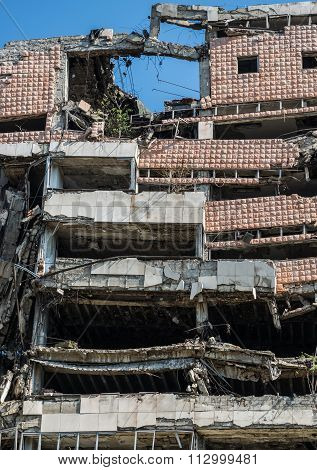 Bombed Building In Belgrade