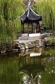 Ancient Chinese Pagoda Reflection Green Willows Garden Of The Humble Administrator Suzhou China