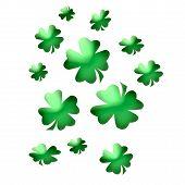 abstract art green shamrocks for saint patricks day poster