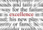 picture of eminent  - blurred text with a focus on excellence - JPG