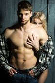 Sexual Young Couple poster