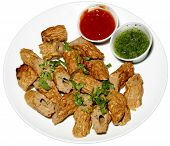 foto of kababs  - freah hot and spicy chicken kabab for lunch time - JPG
