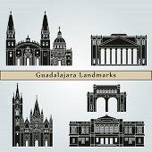 Постер, плакат: Guadalajara Landmarks