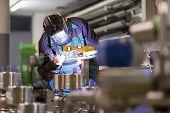 ������, ������: Industrial worker welding in metal factory