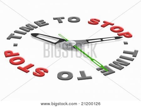 time to stop it has to end one last time and then it is finished halt