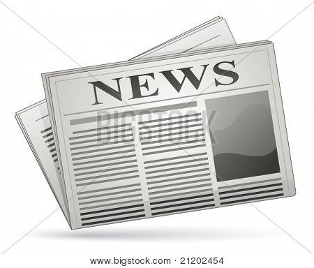 Vector illustration of newspaper