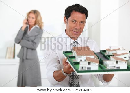 woman and man in an office