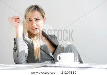 Break Time. Beautiful Businesswoman