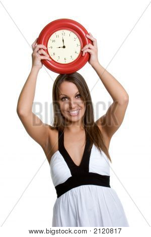 Beautiful Clock Woman
