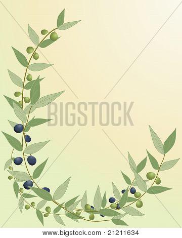 Frontera de la rama de olivo