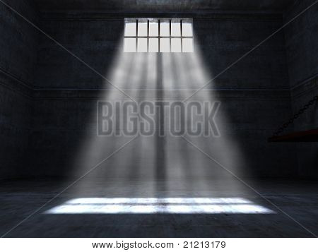 fine 3d image of grunge jail background