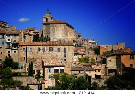 Ancient Medieval Hilltop Town Of Gordes In France 2