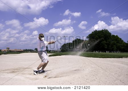 Sand Trap Golf Shot