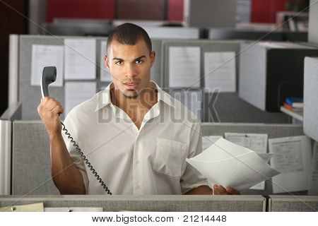 Frustrated Office Worker