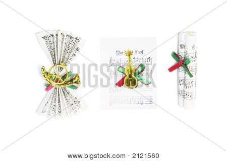 Music Score Christmas Ornaments
