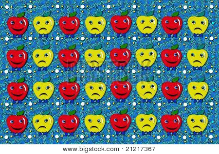 Happy And Sad Apples Educational