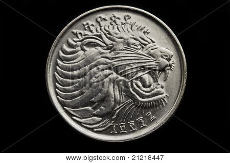 Lion On The Twenty Five Cent