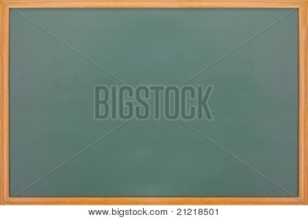 Blank Balckboard With Wooden Frame