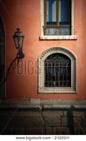Wall, Windows And Lamp, Venice, Italy