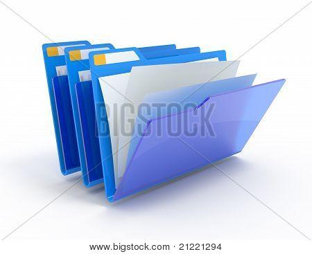 Blue Folders.
