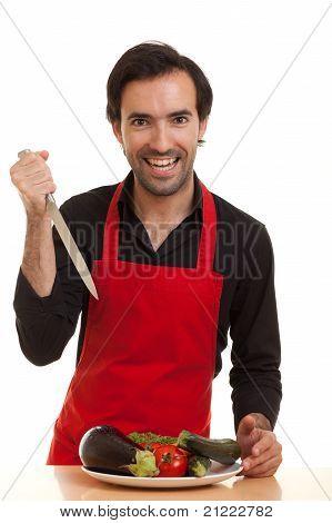 Cuchillo cocinero loco