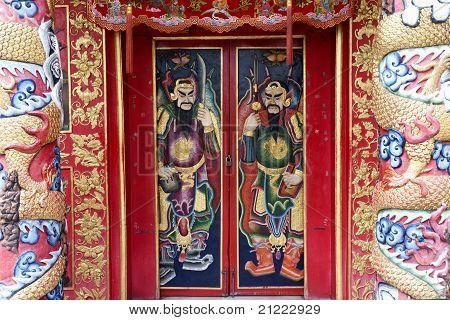 Chinese shrine gate.