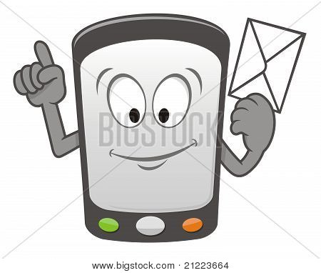 Mobile Message Cartoon