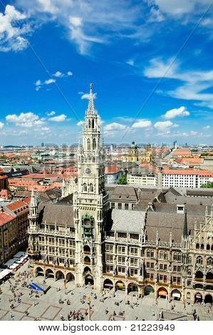 marienplatz in munich and the rathouse