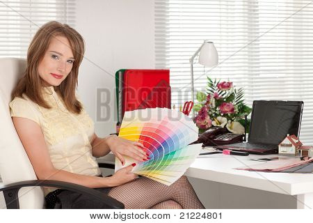 Female Designer Of Interior.