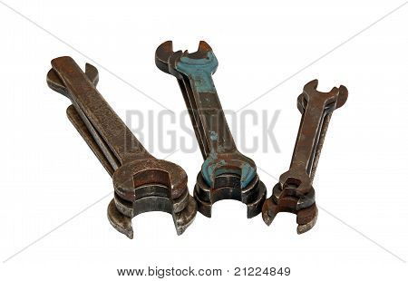 Old rusty wrench