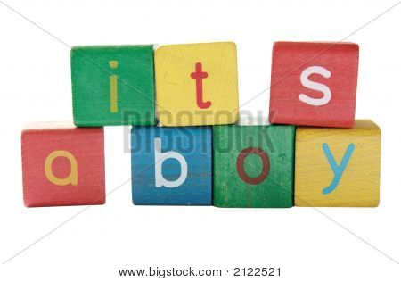 Boy Announcement Blocks