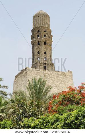 Minaret At Bab Al-futuh In Cairo Egypt